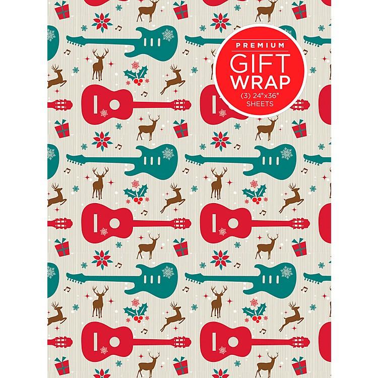 Hal LeonardHoliday Reindeer Guitar Premium Gift Wrapping Paper