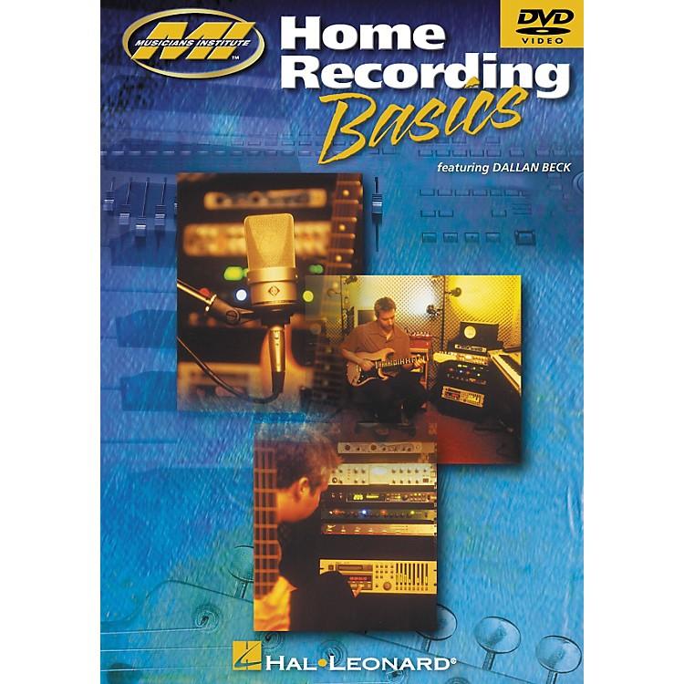 Musicians InstituteHome Recording Basics (DVD)