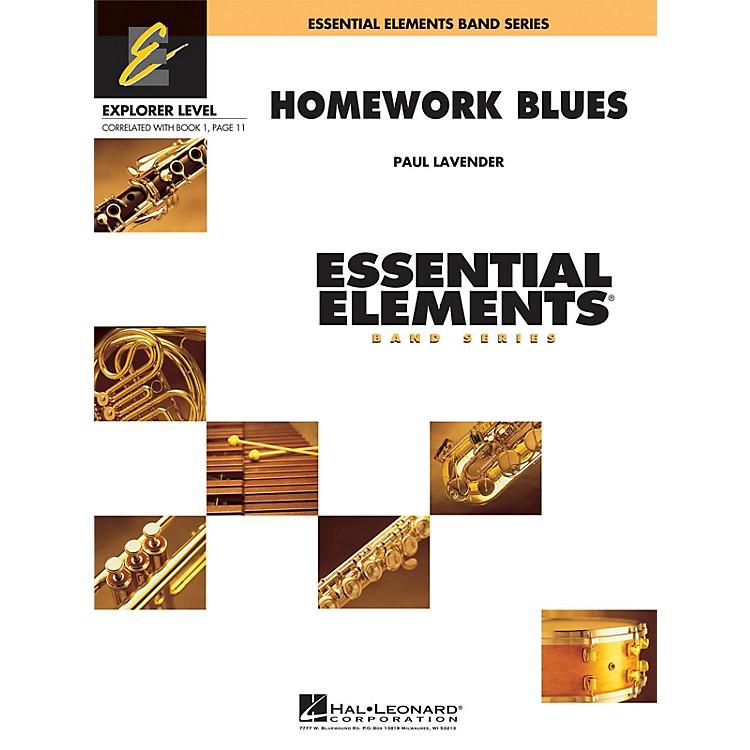 Hal LeonardHomework Blues Concert Band Level 0.5 Arranged by Paul Lavender
