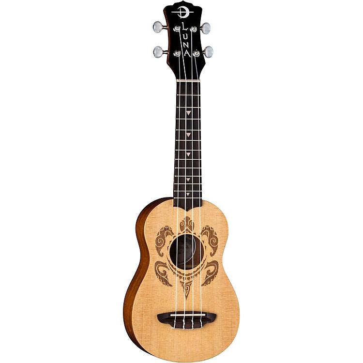 Luna GuitarsHonu Turtle Spruce Soprano UkuleleSatin Natural
