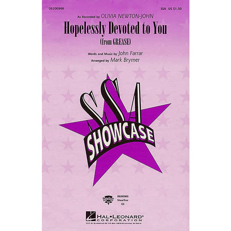 Hal LeonardHopelessly Devoted to You (from Grease) ShowTrax CD by Olivia Newton-John Arranged by Mark Brymer