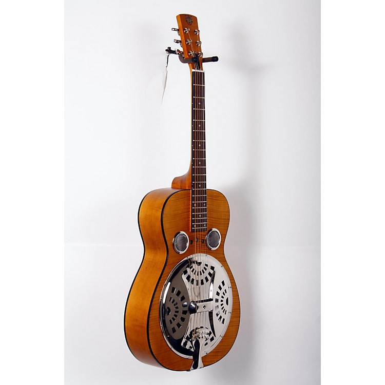Dobro Hound Dog Deluxe Round Neck Acoustic-Electric with Pickup Vintage Brown 888365813929