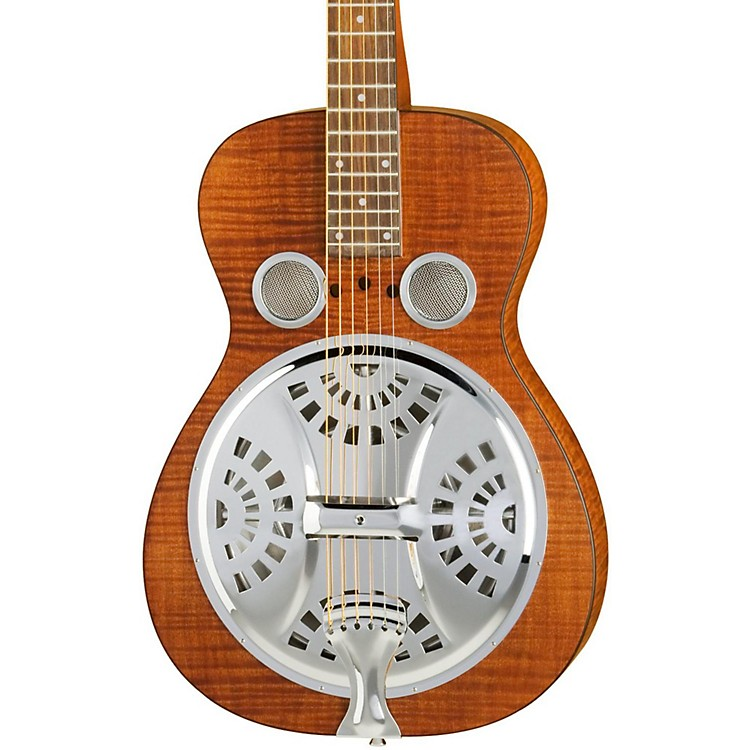 Dobro Hound Dog Square Neck Resonator Guitar Vintage Brown