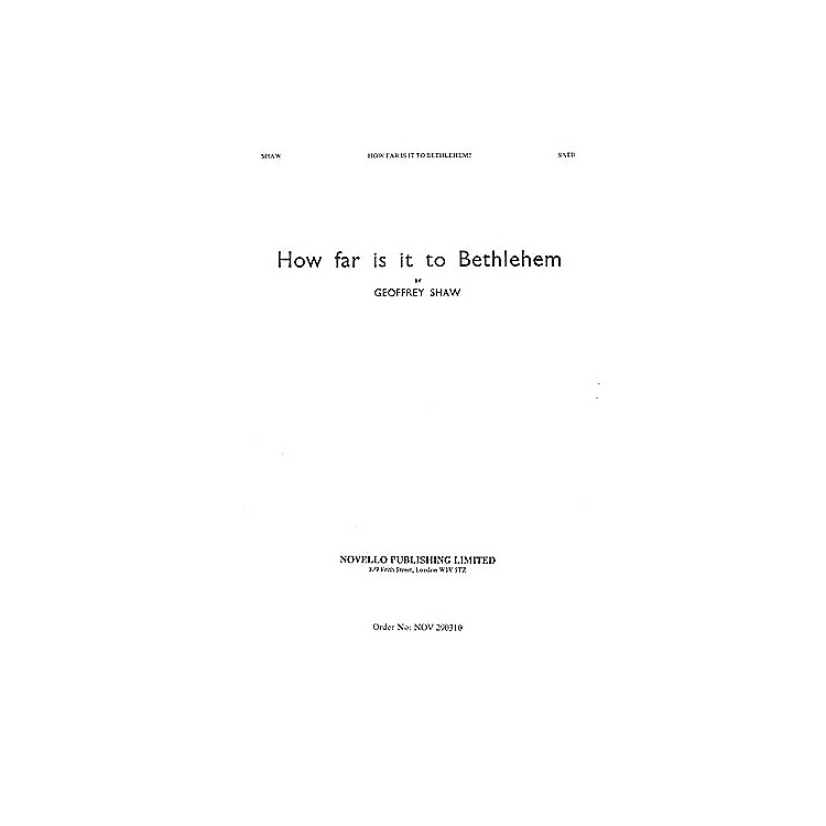 Novello How Far Is It to Bethlehem SATB