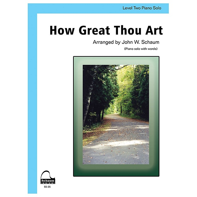 SCHAUMHow Great Thou Art Educational Piano Series Softcover