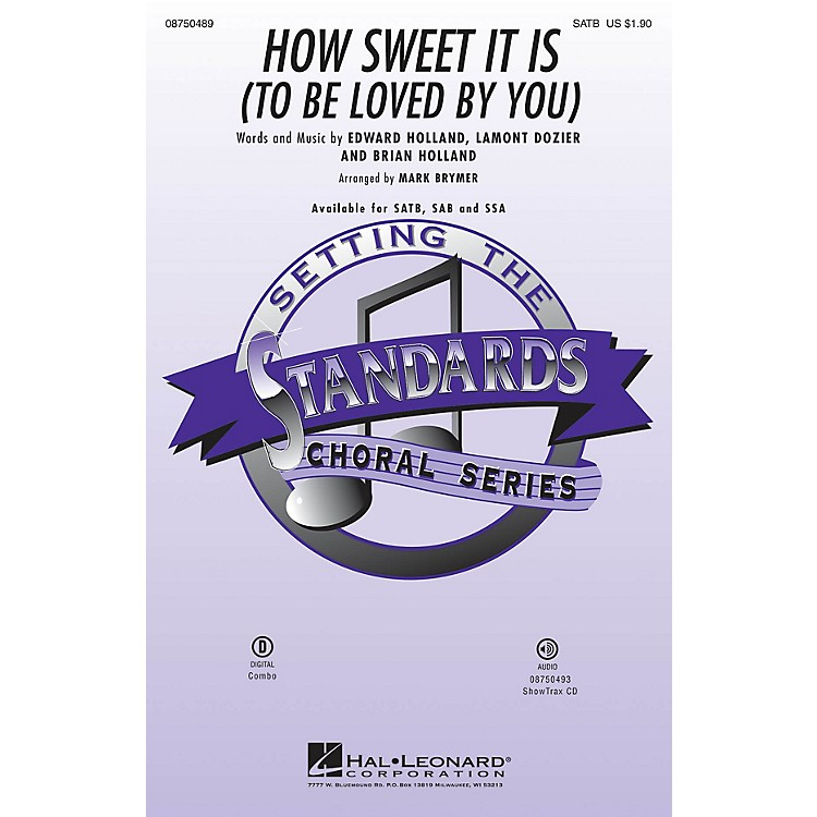 Hal LeonardHow Sweet It Is to Be Loved by You ShowTrax CD Arranged by Mark Brymer