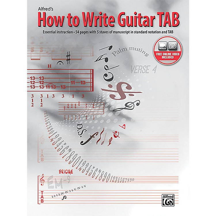 AlfredHow to Write Guitar TAB Book & Online Video