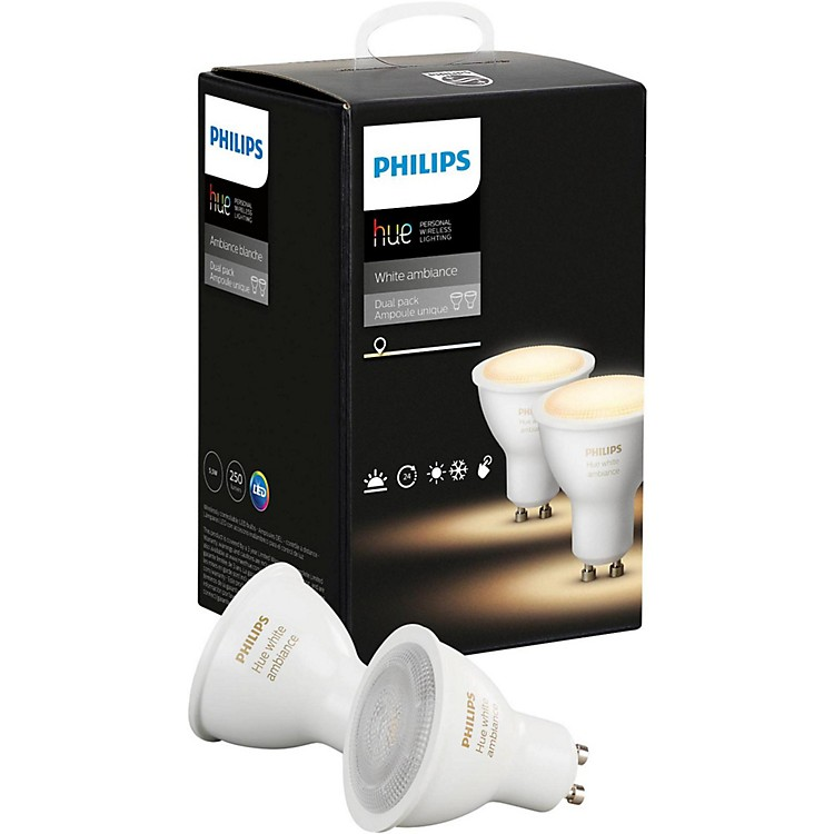 philips hue hue white ambiance gu10 2pk music123. Black Bedroom Furniture Sets. Home Design Ideas