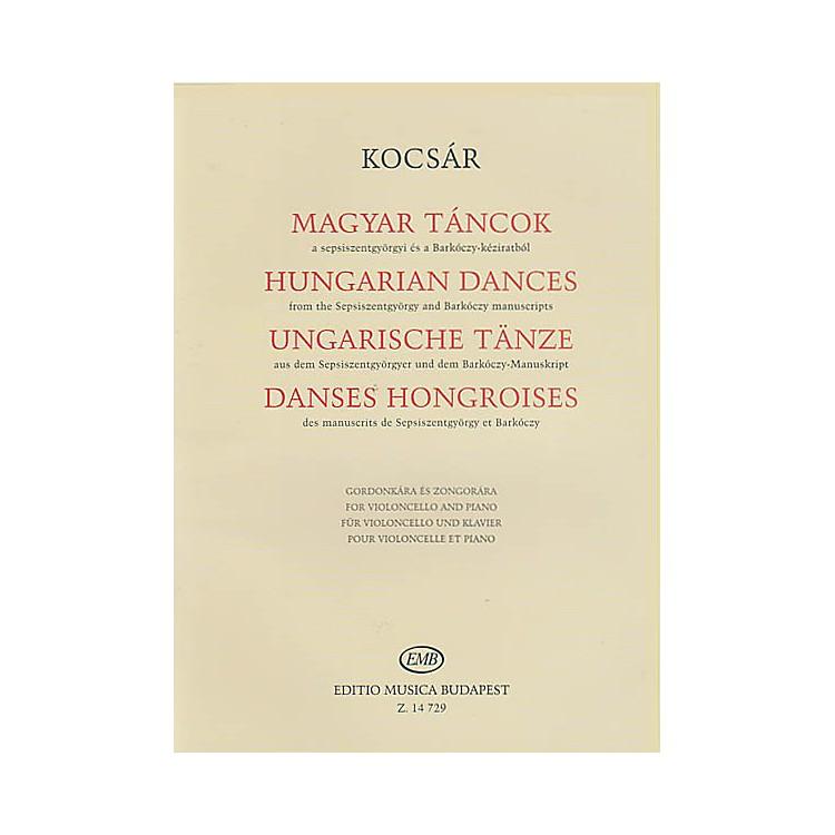 Editio Musica BudapestHungarian Dances (Violoncello and Piano) EMB Series Softcover Composed by Miklós Kocsár