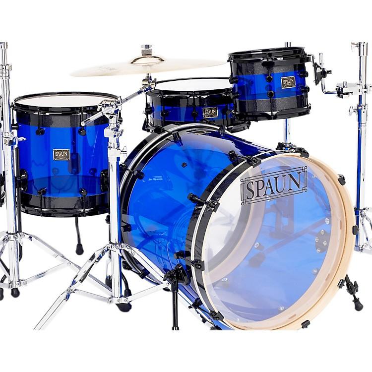 SpaunHybrid 3-Piece Shell Pack with Black HardwareBlack Sparkle with Blue Acrylic