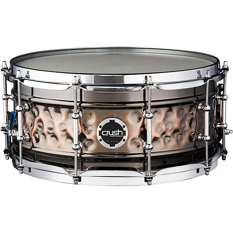 Crush Drums & Percussion Hybrid Hand Hammered Steel Snare Drum 14 x 7 in. Black Nickel