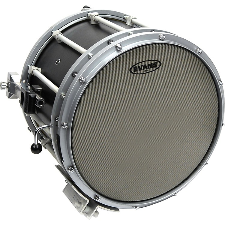 Evans Hybrid Marching Snare Drum Batter Head Gray 14 in.