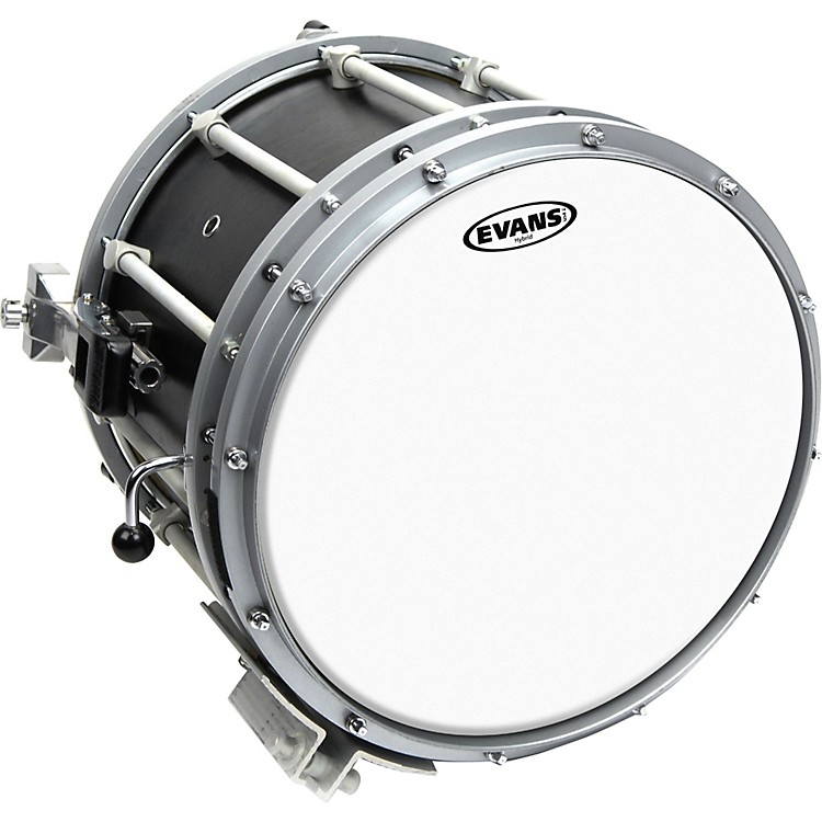 Evans Hybrid Marching Snare Drum Batter Head Gray 13 in.