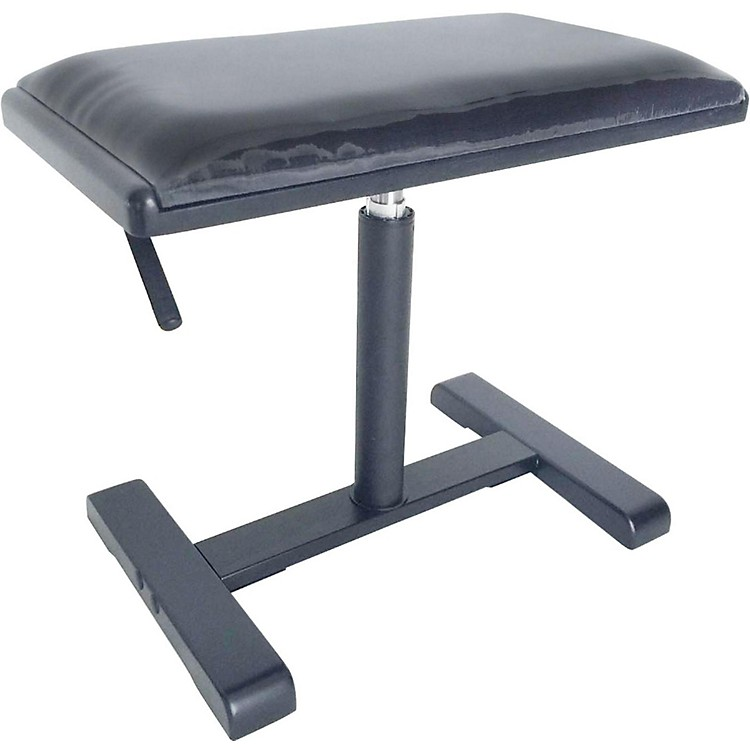 Stagg Hydraulic Piano Bench with Black Velvet Top Black Gloss