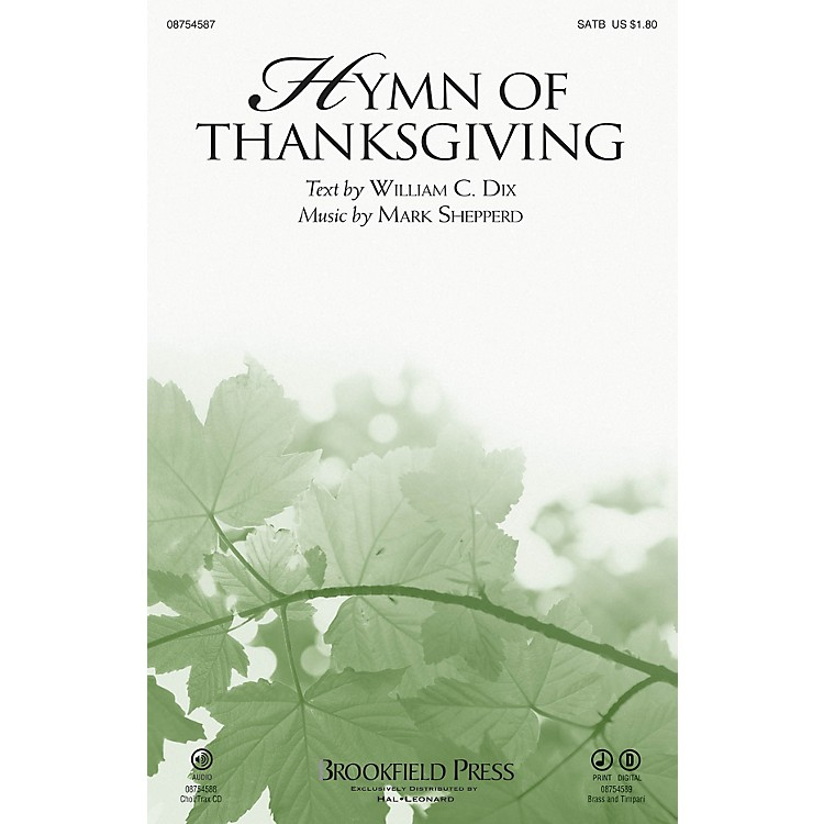 BrookfieldHymn of Thanksgiving BRASS & TIMPANI Composed by Mark Shepperd