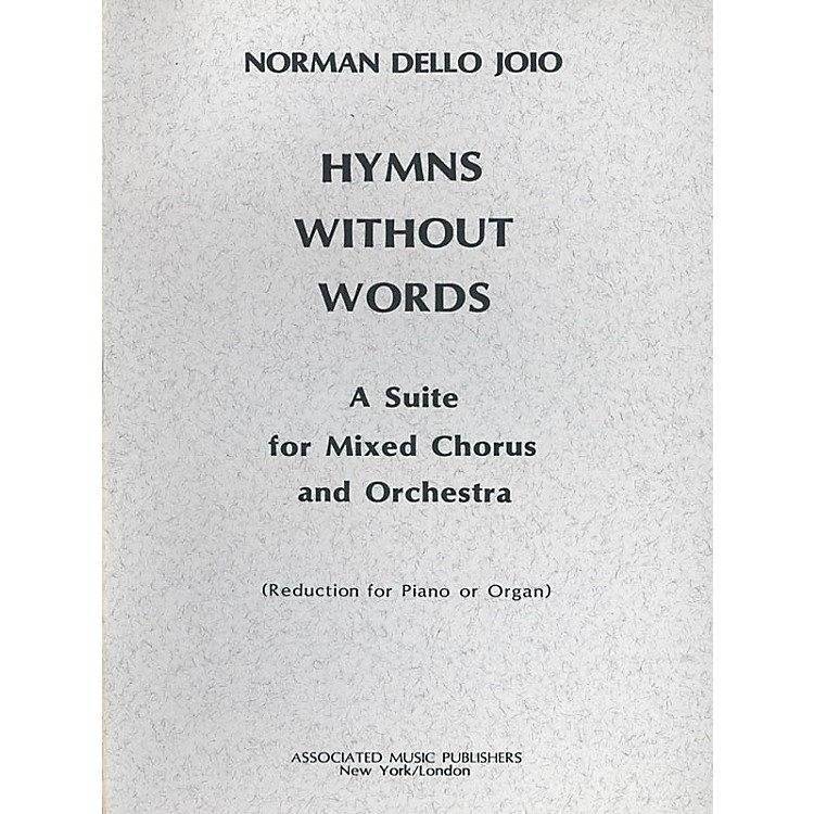 AssociatedHymns Without Words (SATB) SATB composed by Norman Dello Joio
