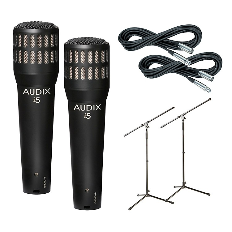 AudixI-5 Mic with Cable and Stand 2 Pack
