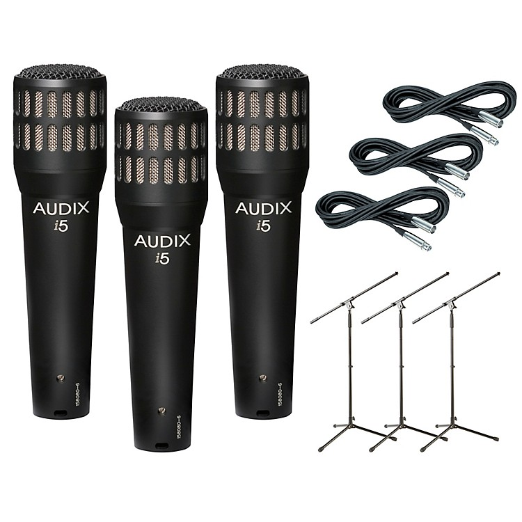 AudixI-5 Mic with Cable and Stand 3 Pack
