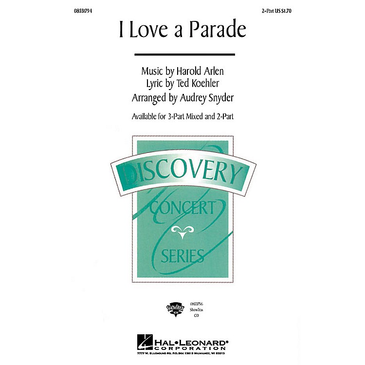 Hal LeonardI Love a Parade ShowTrax CD Arranged by Audrey Snyder