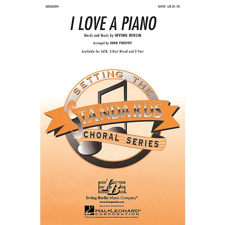 Hal LeonardI Love a Piano 3-Part Mixed Arranged by John Purifoy