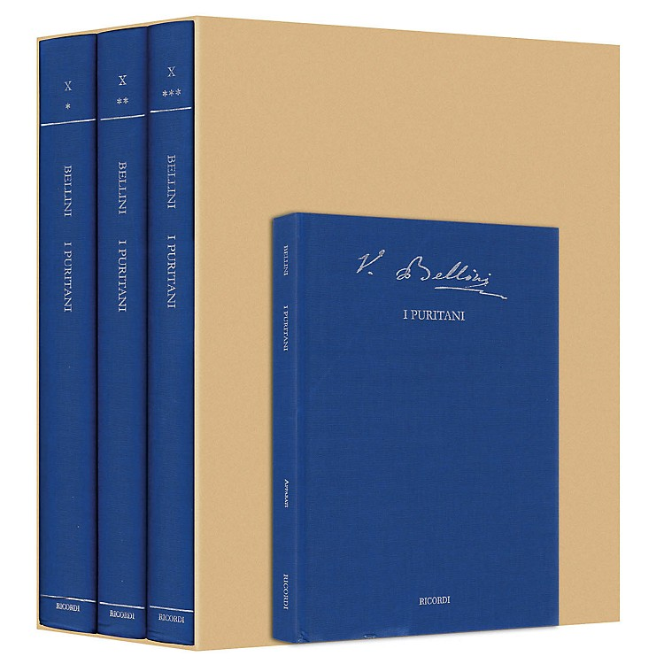 Ricordi I Puritani Bellini Critical Edition Vol. 10 Hardcover by Vincenzo Bellini Edited by Fabrizio Della Seta