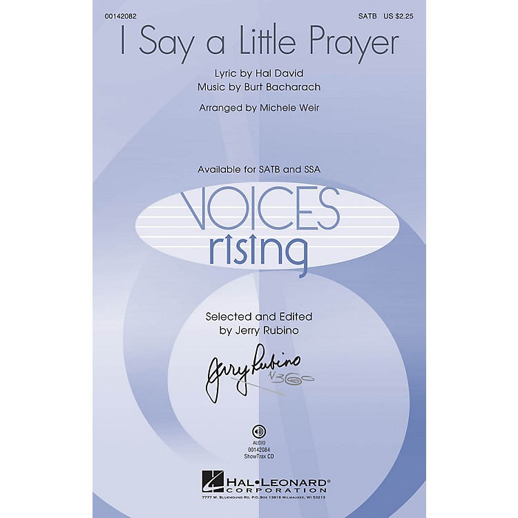 Hal Leonard I Say a Little Prayer SSA by Dionne Warwick Arranged by Michele Weir