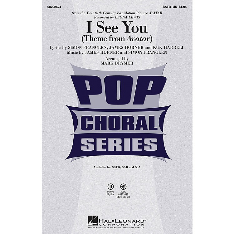 Hal Leonard I See You SAB by Leona Lewis Arranged by Mark Brymer