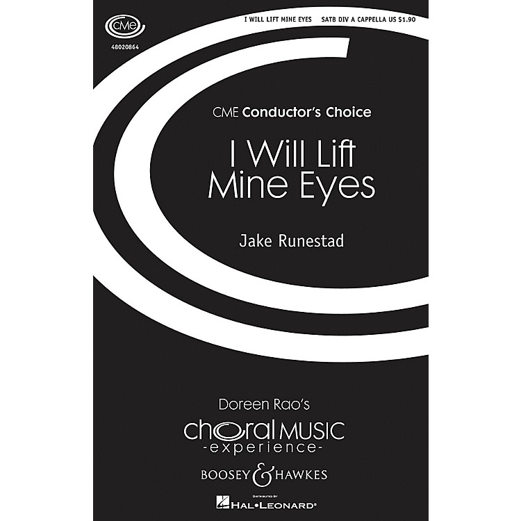 Boosey and HawkesI Will Lift Mine Eyes (CME Conductor's Choice) SATB DV A Cappella composed by Jake Runestad