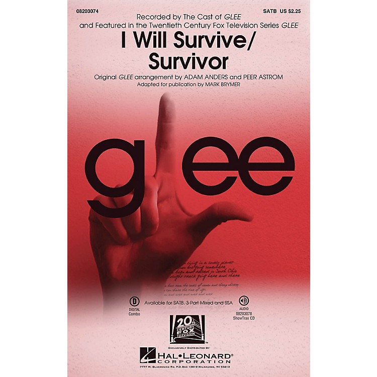 Hal LeonardI Will Survive/Survivor 3-Part Mixed by Destiny's Child Arranged by Adam Anders