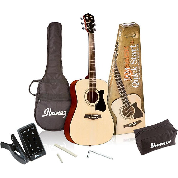 Ibanez IJV30 Quickstart 3/4 Acoustic Guitar Pack Natural