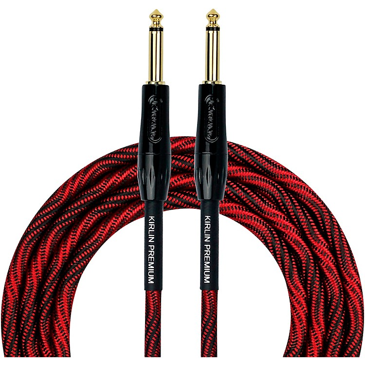 KIRLINIWB Black/Red Woven Instrument Cable 1/4
