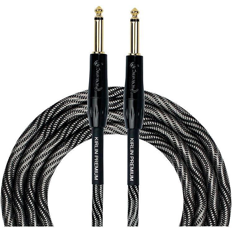 KIRLINIWB Black/White Woven Instrument Cable 1/4