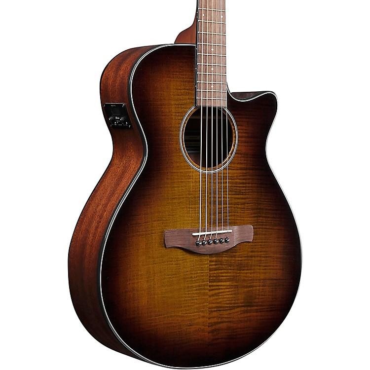 IbanezIbanez AEG70 Grand Concert Acoustic/Electric Guitar Flamed Maple TopTiger Burst High Gloss
