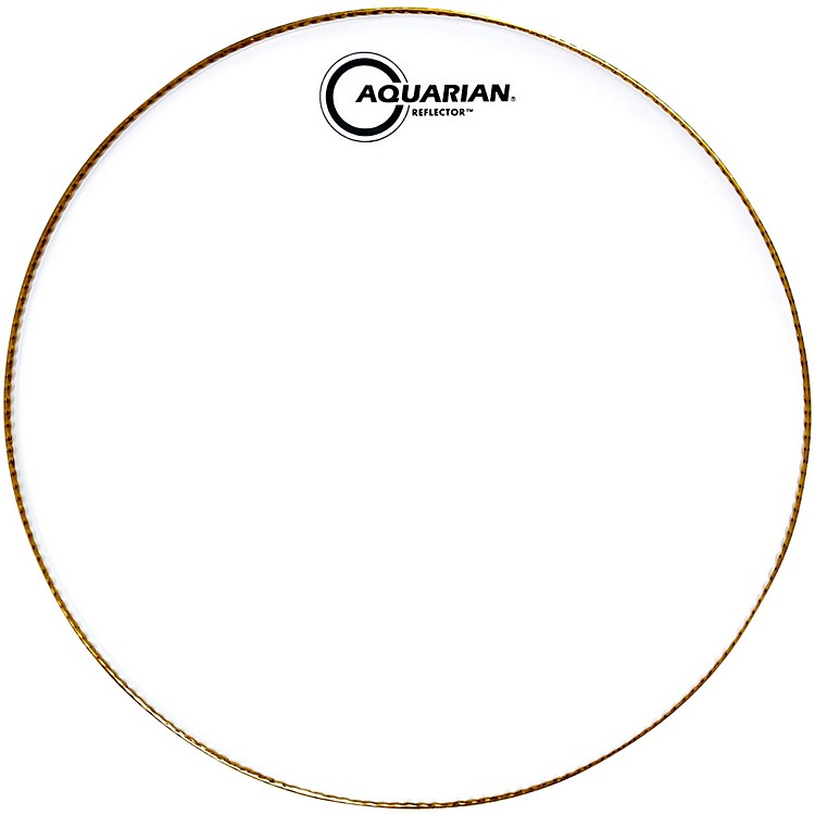 Aquarian Ice White Reflector Drum Head 16 in.