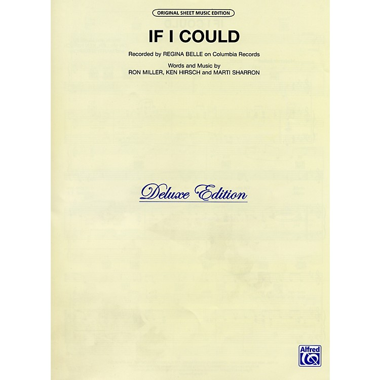 AlfredIf I Could Recorded by Regina Belle Vocal, Piano/Chord Sheet Music