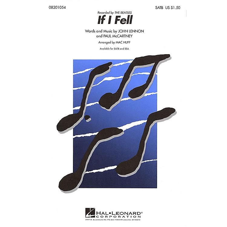 Hal LeonardIf I Fell SATB by The Beatles arranged by Mac Huff