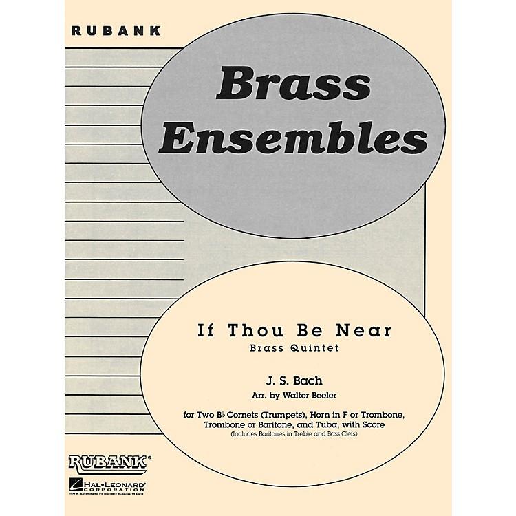 Rubank PublicationsIf Thou Be Near (Bist du bei mir) (Brass Quintet - Grade 3) Rubank Solo/Ensemble Sheet Series