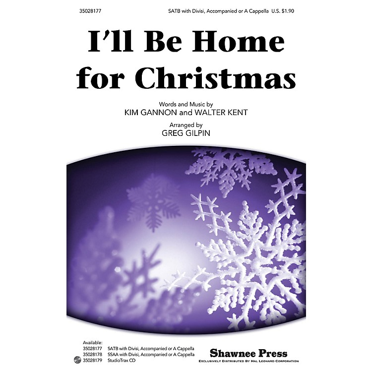 Shawnee Press I'll Be Home for Christmas Studiotrax CD Arranged by Greg Gilpin
