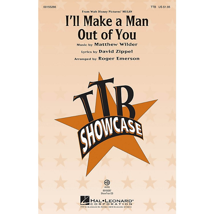 Hal Leonard I'll Make a Man out of You (from Mulan) TBB arranged by Roger Emerson