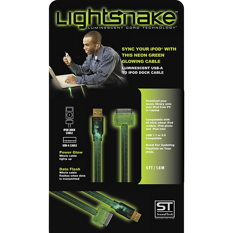 LightSnake Illuminated iPod Dock Cable Black