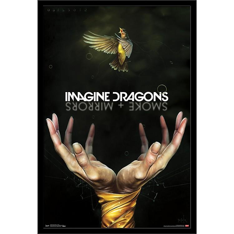 Trends InternationalImagine Dragons - Smoke PosterFramedBlack
