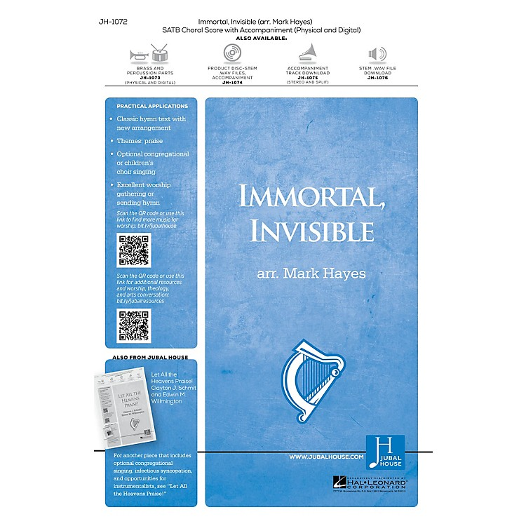 Jubal House PublicationsImmortal, Invisible, God Only Wise Accompaniment CD Arranged by Mark Hayes