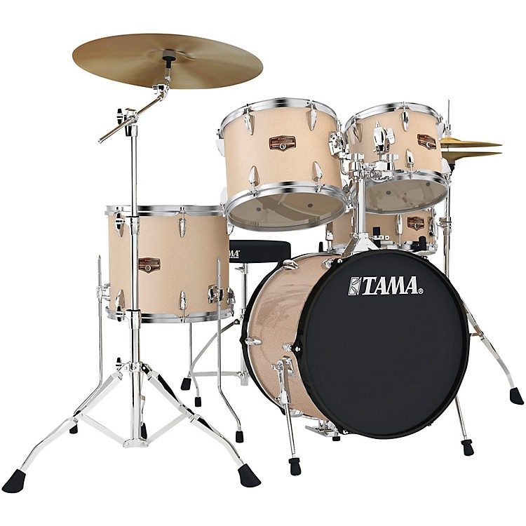 tama imperialstar 5 piece complete drum set with meinl hcs cymbals and 18 in bass drum music123. Black Bedroom Furniture Sets. Home Design Ideas