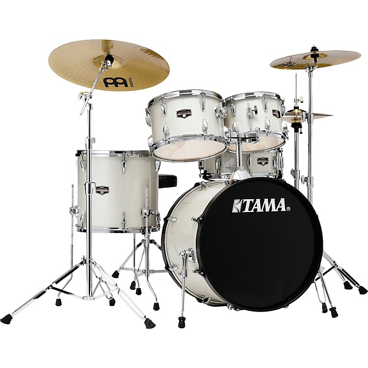 TAMAImperialstar 5-Piece Complete Drum Set with Meinl HCS cymbals and 20 in. Bass DrumCandy Apple Mist