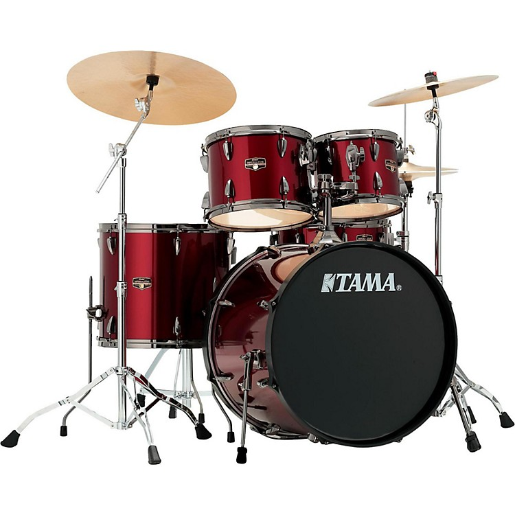 TAMA Imperialstar 5-Piece Complete Kit with Meinl HCS Cymbals Vintage Red