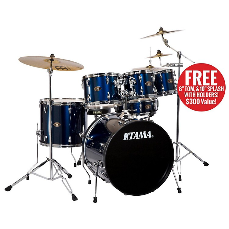 Tama Imperialstar 5-Piece Drum Set with Cymbals Midnight Blue