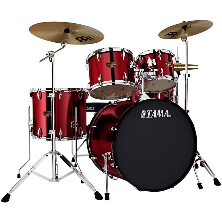 TamaImperialstar 5-Piece Drum Set with CymbalsVintage Red