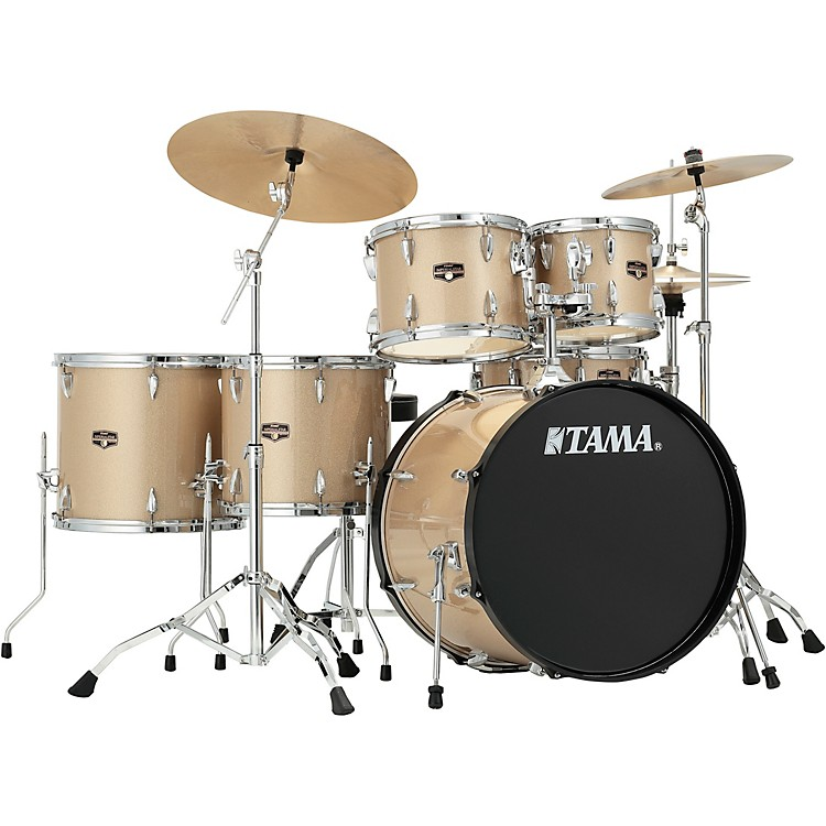 TAMAImperialstar 6-Piece Complete Drum Set with Meinl HCS Cymbals and 22