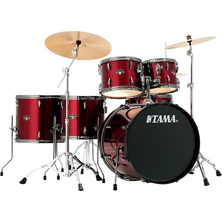 TamaImperialstar 6-Piece Complete kit with Meinl HCS Cymbals and 22 in. Bass DrumVintage Red