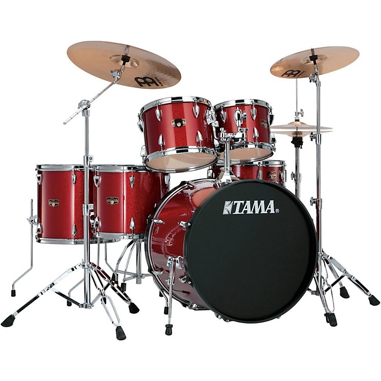 TamaImperialstar 6-Piece Drum Set with CymbalsCandy Apple Mist